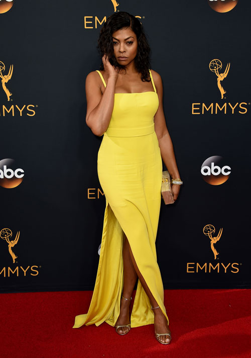 <div class='meta'><div class='origin-logo' data-origin='AP'></div><span class='caption-text' data-credit='Photo by Jordan Strauss/Invision/AP'>Taraji P. Henson arrives at the 68th Primetime Emmy Awards on Sunday, Sept. 18, 2016, at the Microsoft Theater in Los Angeles.</span></div>