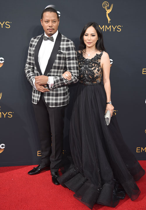 <div class='meta'><div class='origin-logo' data-origin='AP'></div><span class='caption-text' data-credit='Photo by Phil McCarten/Invision for the Television Academy/AP Images'>Terrence Howard, left, and Miranda Pak arrive at the 68th Primetime Emmy Awards on Sunday, Sept. 18, 2016, at the Microsoft Theater in Los Angeles.</span></div>