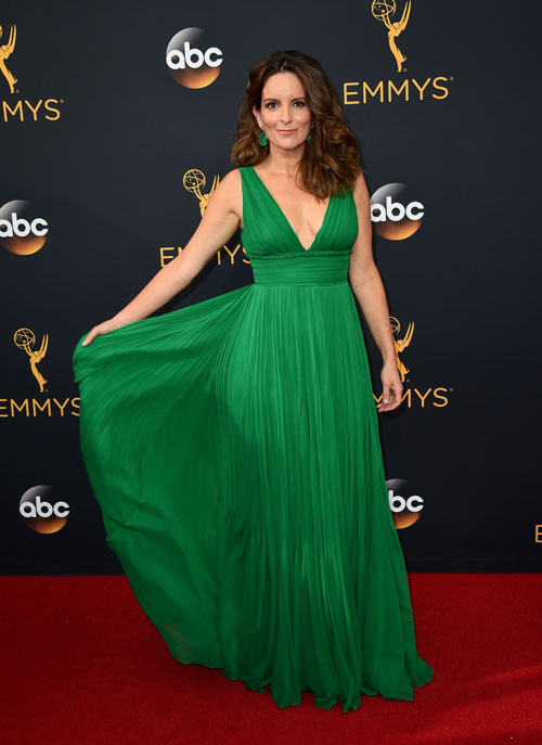 <div class='meta'><div class='origin-logo' data-origin='AP'></div><span class='caption-text' data-credit='Photo by Jordan Strauss/Invision/AP'>Tina Fey arrives at the 68th Primetime Emmy Awards on Sunday, Sept. 18, 2016, at the Microsoft Theater in Los Angeles.</span></div>