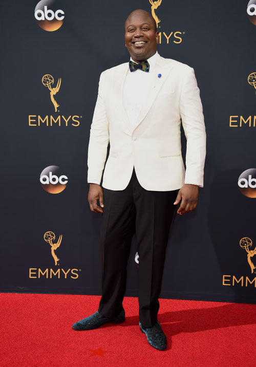 <div class='meta'><div class='origin-logo' data-origin='AP'></div><span class='caption-text' data-credit='Photo by Phil McCarten/Invision for the Television Academy/AP Images'>Tituss Burgess arrives at the 68th Primetime Emmy Awards on Sunday, Sept. 18, 2016, at the Microsoft Theater in Los Angeles.</span></div>