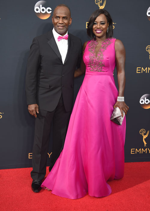 <div class='meta'><div class='origin-logo' data-origin='AP'></div><span class='caption-text' data-credit='Photo by Jordan Strauss/Invision/AP'>Julius Tennon, left, and Viola Davis arrive at the 68th Primetime Emmy Awards on Sunday, Sept. 18, 2016, at the Microsoft Theater in Los Angeles.</span></div>
