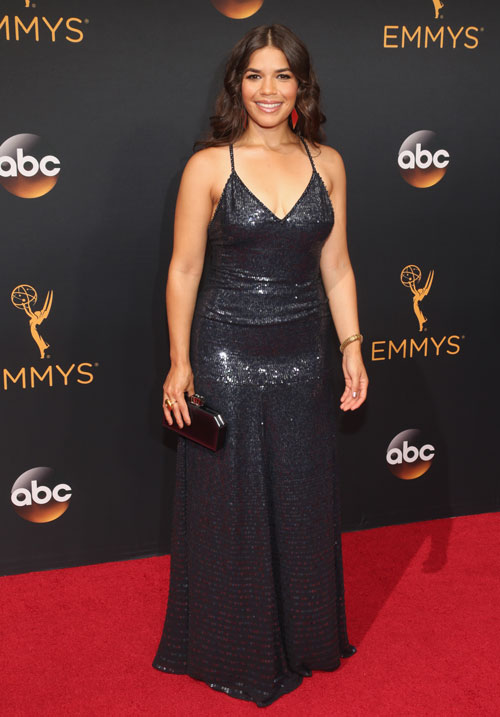 <div class='meta'><div class='origin-logo' data-origin='none'></div><span class='caption-text' data-credit='Photo by Todd Williamson/Getty Images)'>America Ferrera attends the 68th Annual Primetime Emmy Awards at Microsoft Theater on September 18, 2016 in Los Angeles, California.</span></div>