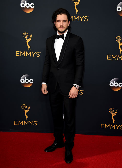 <div class='meta'><div class='origin-logo' data-origin='AP'></div><span class='caption-text' data-credit='Photo by Jordan Strauss/Invision/AP'>Kit Harington arrives at the 68th Primetime Emmy Awards on Sunday, Sept. 18, 2016, at the Microsoft Theater in Los Angeles.</span></div>