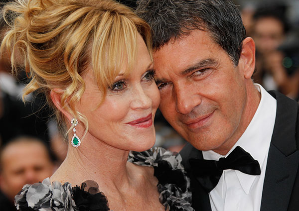 <div class='meta'><div class='origin-logo' data-origin='none'></div><span class='caption-text' data-credit='Joel Ryan/AP Photo'>Melanie Griffith and Antonio Banderas</span></div>