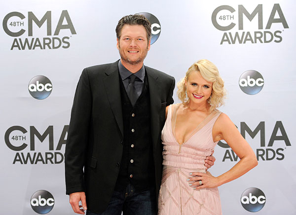 <div class='meta'><div class='origin-logo' data-origin='none'></div><span class='caption-text' data-credit='Evan Agostini/Invision/AP'>Blake Shelton and Miranda Lambert</span></div>