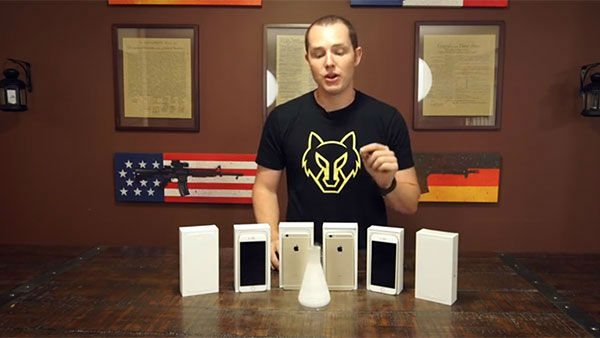 "<div class=""meta image-caption""><div class=""origin-logo origin-image ""><span></span></div><span class=""caption-text"">Richard Ryan with all the iPhones before their tests (Photo/YouTube, RatedRR)</span></div>"