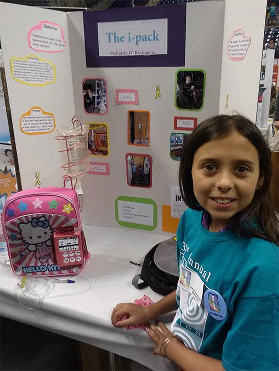 11-year-old cancer survivor designs special backpack for ...