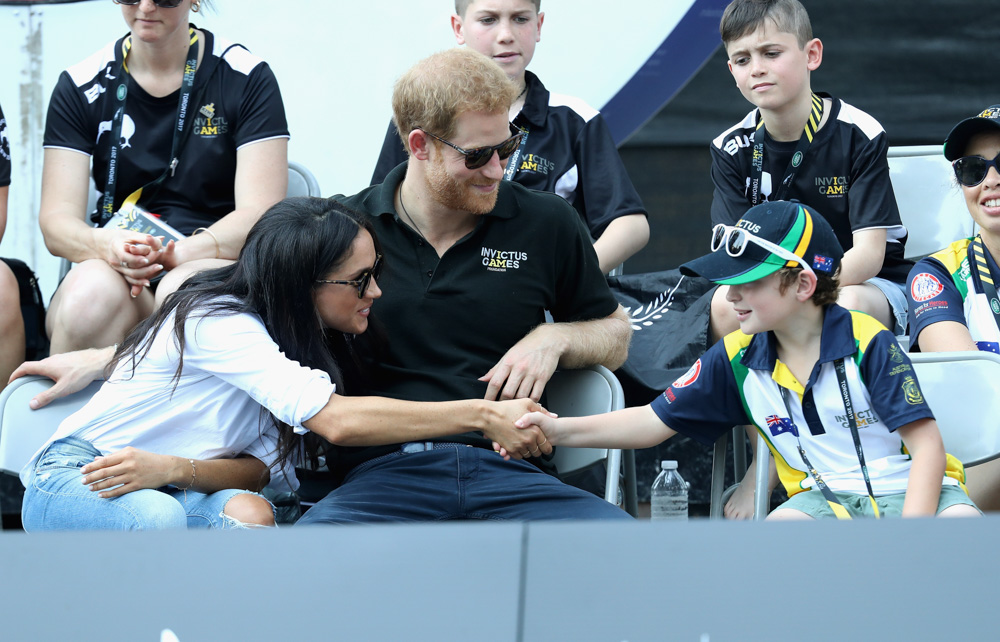 "<div class=""meta image-caption""><div class=""origin-logo origin-image none""><span>none</span></div><span class=""caption-text"">Prince Harry (R) and Meghan Markle (L) attend a Wheelchair Tennis match during the Invictus Games 2017 at Nathan Philips Square on September 25, 2017 in Toronto, Canada. (Chris Jackson/Getty Images for the Invictus Games Foundation)</span></div>"