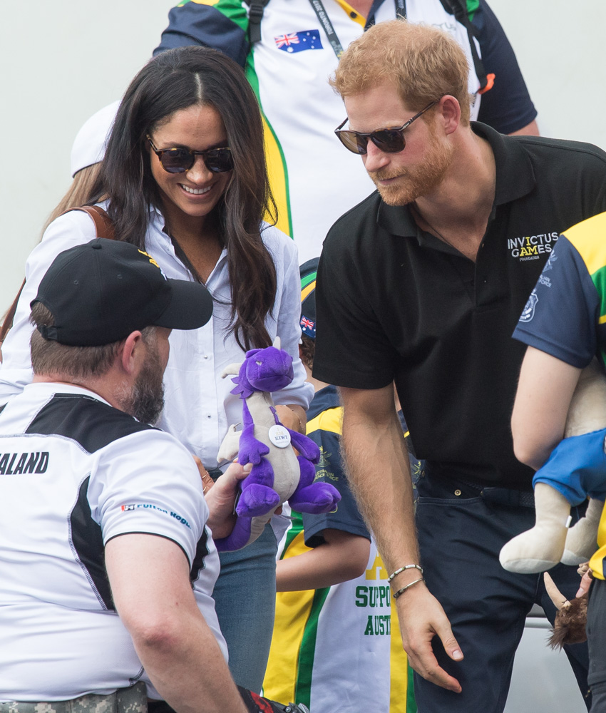 "<div class=""meta image-caption""><div class=""origin-logo origin-image none""><span>none</span></div><span class=""caption-text"">Meghan Markle and Prince Harry appear together at the wheelchair tennis  on day 3 of the Invictus Games Toronto 2017 on September 25, 2017 in Toronto, Canada. (Samir Hussein/WireImage)</span></div>"