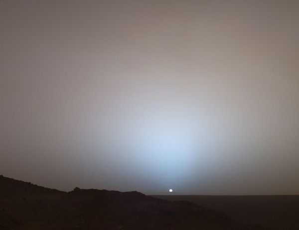 <div class='meta'><div class='origin-logo' data-origin='none'></div><span class='caption-text' data-credit='Getty'>Mars Exploration Rover Spirit captured this stunning sunset on the red planet on May 19, 2005.</span></div>