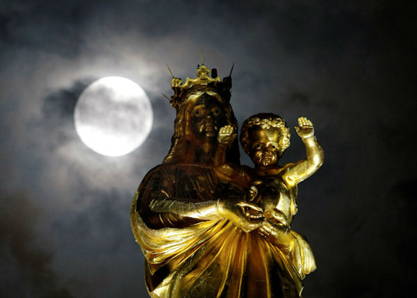 <div class='meta'><div class='origin-logo' data-origin='none'></div><span class='caption-text' data-credit='Photo/AP'>The supermoon is seen over Marseille, France overnight on Sept. 27, the night of a lunar eclipse.</span></div>