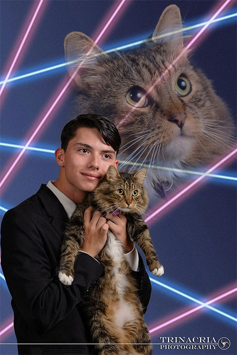 "<div class=""meta image-caption""><div class=""origin-logo origin-image ""><span></span></div><span class=""caption-text"">Draven Rodriquez posed for a retro-style photo shoot with his cat, Mr. Bigglesworth. (Vincent Giordano/Trinacria Photography)</span></div>"