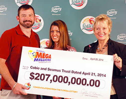 <div class='meta'><div class='origin-logo' data-origin='none'></div><span class='caption-text' data-credit='Mega Millions'>9. $414 million (Mega Millions). Won March 18, 2014. Winning ticket claimed by Raymond Moyer and Robyn Collier of Merritt Island, Fla.</span></div>
