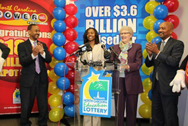 <div class='meta'><div class='origin-logo' data-origin='none'></div><span class='caption-text' data-credit='Powerball'>6. $564.1 million (Powerball). Marie Holmes of North Carolina claimed one of three winning ticket for this jackpot on Feb. 11, 2015.</span></div>
