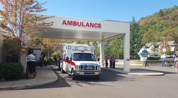 <div class='meta'><div class='origin-logo' data-origin='none'></div><span class='caption-text' data-credit='@Bob_Schaper/KEZI'>Mercy Medical Center in Roseburg, Ore. where some patients from the shooting are being treated.</span></div>