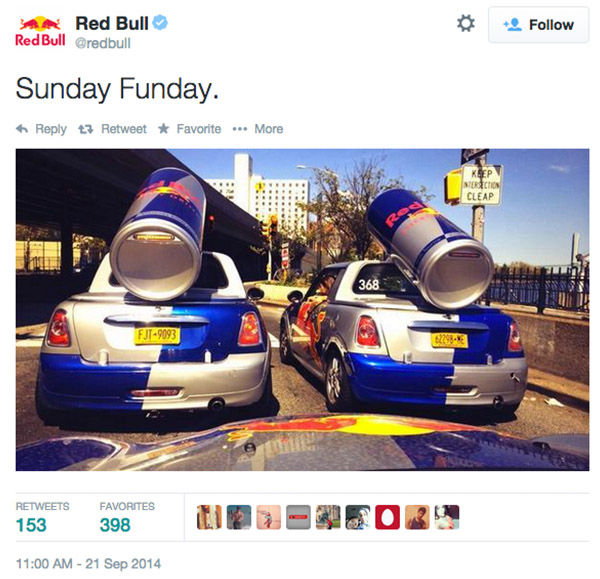 """<div class=""""meta image-caption""""><div class=""""origin-logo origin-image """"><span></span></div><span class=""""caption-text"""">Red Bull agreed to pay out $13M in a class action settlement over their slogan and marketing tactics. Plantiff claims the energy drink did not """"give him wings."""" (Red Bull/Twitter)</span></div>"""