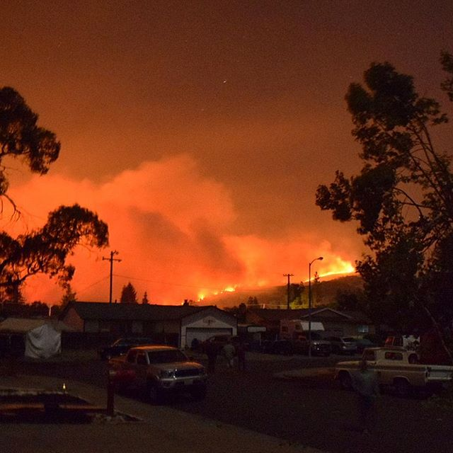 <div class='meta'><div class='origin-logo' data-origin='none'></div><span class='caption-text' data-credit='Amy Lieberfarb/Instagram'>Multiple fires were burning in the Napa and Calistoga areas, forcing residents to evacuate overnight after the fires started on Sunday, October 8, 2017.</span></div>
