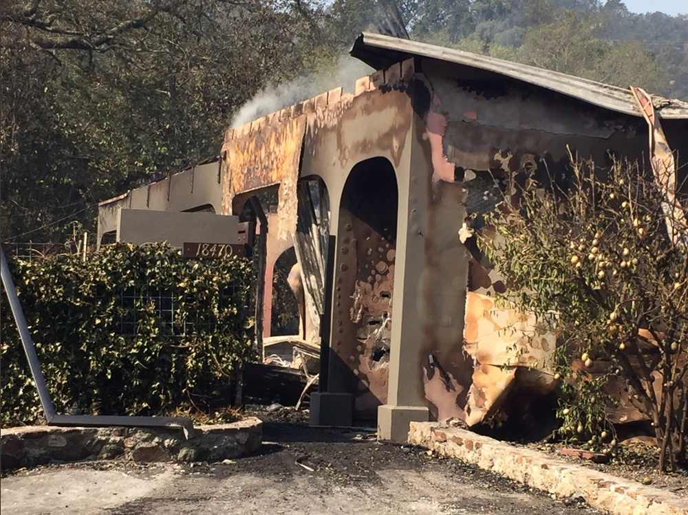<div class='meta'><div class='origin-logo' data-origin='none'></div><span class='caption-text' data-credit=''>&#34;Home lost at 18470 Half Moon St in #Sonoma surrounding house appear ok, but plenty of hotspots still.&#34;</span></div>