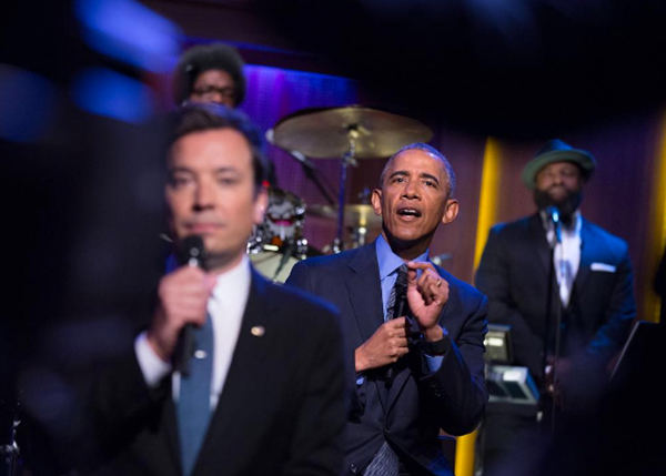 <div class='meta'><div class='origin-logo' data-origin='none'></div><span class='caption-text' data-credit='Pete Souza, Chief Official White House Photographer'>President Obama while on the &#34;The Tonight Show with Jimmy Fallon&#34; in 2016.</span></div>