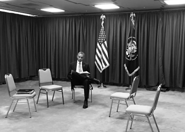 <div class='meta'><div class='origin-logo' data-origin='none'></div><span class='caption-text' data-credit='Pete Souza, Chief Official White House Photographer'>The president sitting alone during a break at the G7 Summit in Japan in 2016.</span></div>