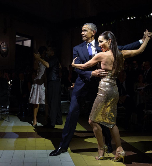 <div class='meta'><div class='origin-logo' data-origin='none'></div><span class='caption-text' data-credit='Pete Souza, Chief Official White House Photographer'>President Obama showing off his best tango moves in Argentina in 2016.</span></div>