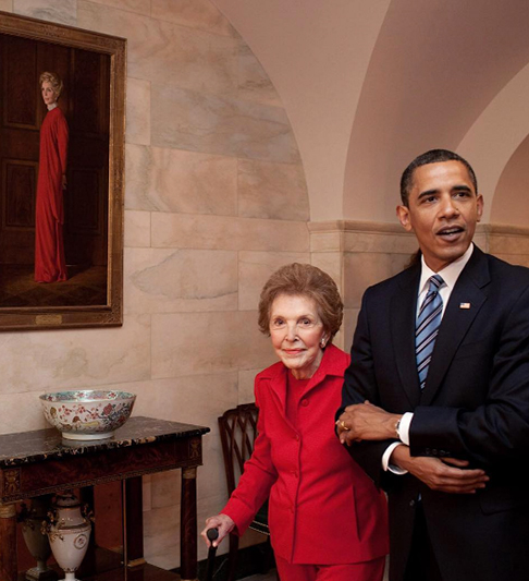 <div class='meta'><div class='origin-logo' data-origin='none'></div><span class='caption-text' data-credit='Pete Souza, Chief Official White House Photographer'>President Obama walking with former first lady Nancy Reagan at the White House in 2009.</span></div>
