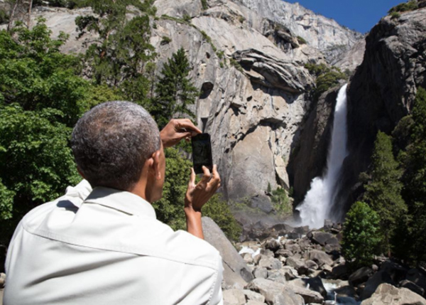 <div class='meta'><div class='origin-logo' data-origin='none'></div><span class='caption-text' data-credit='Pete Souza, Chief Official White House Photographer'>Pete Souza captured an image of President Obama capturing an image at Yosemite National Park in California in 2016.</span></div>