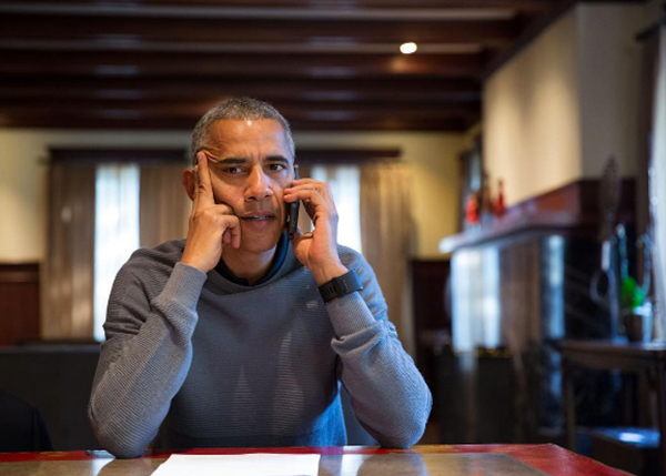 <div class='meta'><div class='origin-logo' data-origin='none'></div><span class='caption-text' data-credit='Pete Souza, Chief Official White House Photographer'>President Obama receiving updates on Hurricane Matthew over the phone in 2016.</span></div>