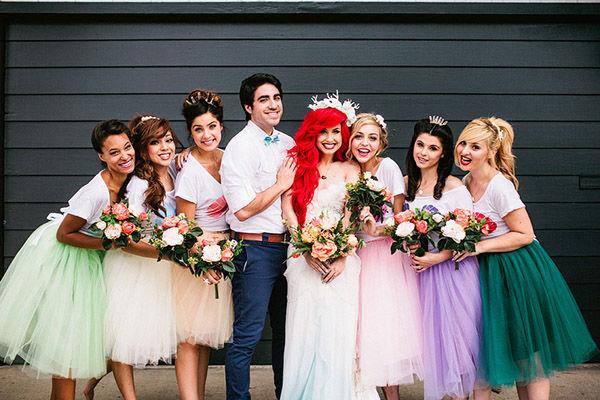 Little Mermaid wedding photo shoot takes Disney themed nuptials