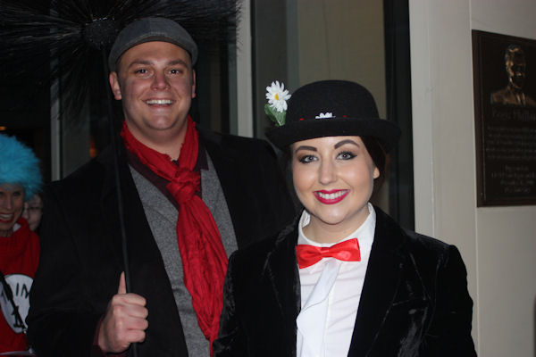 """<div class=""""meta image-caption""""><div class=""""origin-logo origin-image none""""><span>none</span></div><span class=""""caption-text"""">Audience members dress as Mary Poppins and her friend Bert for the ''LIVE with Kelly and Michael'' Halloween costume contest. (Bob Monek. Eyewitness News)</span></div>"""