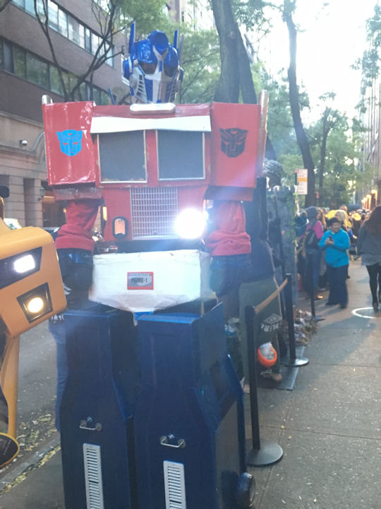 """<div class=""""meta image-caption""""><div class=""""origin-logo origin-image none""""><span>none</span></div><span class=""""caption-text"""">An audience member dresses up as a Transformer for the ''LIVE with Kelly and Michael'' Halloween costume contest. (Bob Monek. Eyewitness News)</span></div>"""