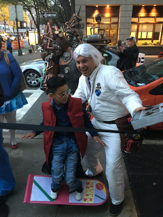 """<div class=""""meta image-caption""""><div class=""""origin-logo origin-image none""""><span>none</span></div><span class=""""caption-text"""">Sean Gonzalez, 9, and his dad Luis dress as Marty McFly and Doc Brown from ''Back to the Future'' for the ''LIVE with Kelly and Michael'' costume contest. (Bob Monek. Eyewitness News)</span></div>"""