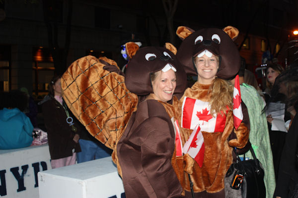 """<div class=""""meta image-caption""""><div class=""""origin-logo origin-image none""""><span>none</span></div><span class=""""caption-text"""">Cathy and Michaela Sceli dress as Canadian beavers for the ''LIVE with Kelly and Michael'' costume contest. (Bob Monek. Eyewitness News)</span></div>"""