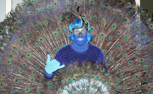 """<div class=""""meta image-caption""""><div class=""""origin-logo origin-image none""""><span>none</span></div><span class=""""caption-text"""">Jimmy Zamzow took 20 hours to make this peacock costume for the ''LIVE with Kelly and Michael'' costume contest. (Bob Monek. Eyewitness News)</span></div>"""