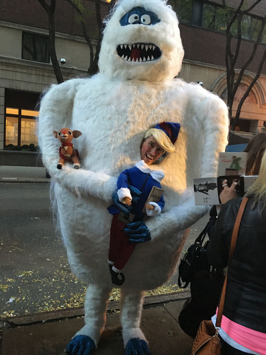 """<div class=""""meta image-caption""""><div class=""""origin-logo origin-image none""""><span>none</span></div><span class=""""caption-text"""">Marc Dallmer dresses as a 9-foot-tall Abominable Snowman for the ''LIVE with Kelly and Michael'' Halloween costume contest. (Bob Monek. Eyewitness News)</span></div>"""