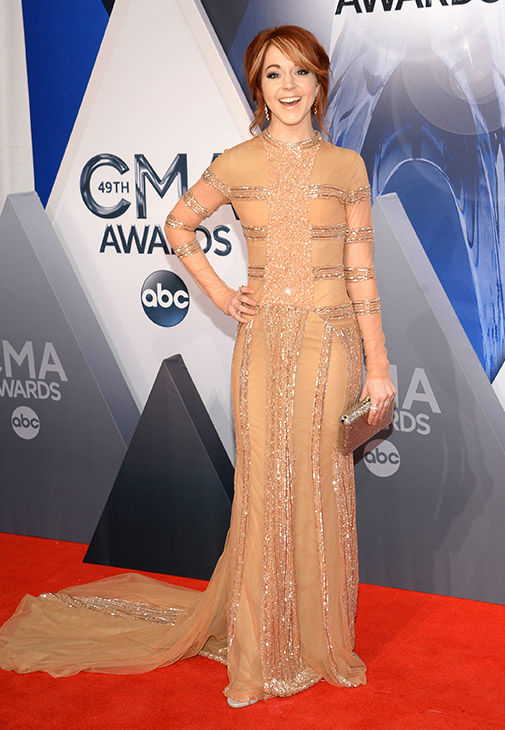 <div class='meta'><div class='origin-logo' data-origin='none'></div><span class='caption-text' data-credit='Evan Agostini/Invision/AP'>Lindsey Stirling arrives at the 49th annual CMA Awards at the Bridgestone Arena on Wednesday, Nov. 4, 2015, in Nashville, Tenn.</span></div>
