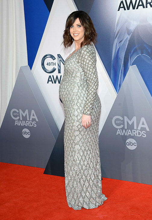 <div class='meta'><div class='origin-logo' data-origin='none'></div><span class='caption-text' data-credit='Evan Agostini/Invision/AP'>Shawna Thompson, of Thompson Square, arrives at the 49th annual CMA Awards at the Bridgestone Arena on Wednesday, Nov. 4, 2015, in Nashville, Tenn.</span></div>