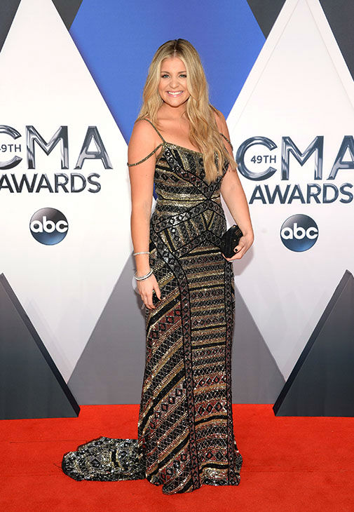 <div class='meta'><div class='origin-logo' data-origin='none'></div><span class='caption-text' data-credit='Evan Agostini/Invision/AP'>Lauren Alaina arrives at the 49th annual CMA Awards at the Bridgestone Arena on Wednesday, Nov. 4, 2015, in Nashville, Tenn.</span></div>