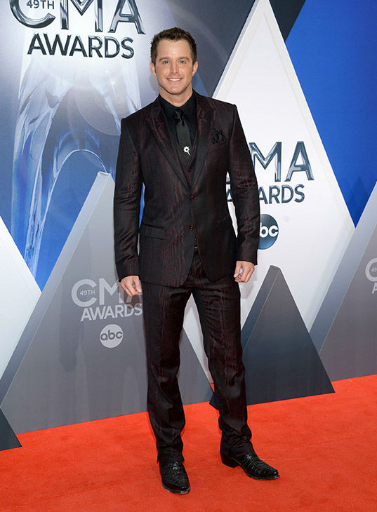 <div class='meta'><div class='origin-logo' data-origin='none'></div><span class='caption-text' data-credit='Evan Agostini/Invision/AP'>Easton Corbin arrives at the 49th annual CMA Awards at the Bridgestone Arena on Wednesday, Nov. 4, 2015, in Nashville, Tenn.</span></div>