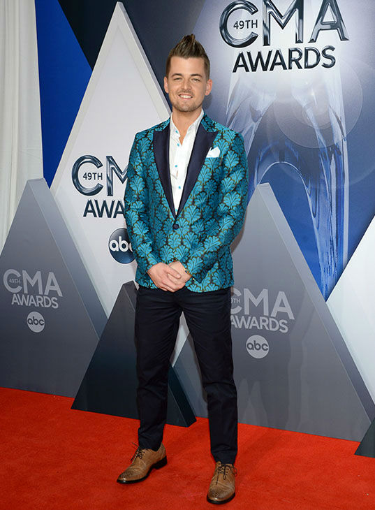 <div class='meta'><div class='origin-logo' data-origin='none'></div><span class='caption-text' data-credit='Evan Agostini/Invision/AP'>Chase Bryant arrives at the 49th annual CMA Awards at the Bridgestone Arena on Wednesday, Nov. 4, 2015, in Nashville, Tenn.</span></div>