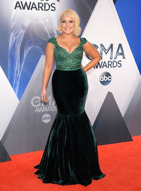 <div class='meta'><div class='origin-logo' data-origin='none'></div><span class='caption-text' data-credit='Evan Agostini/Invision/AP'>Meghan Linsey arrives at the 49th annual CMA Awards at the Bridgestone Arena on Wednesday, Nov. 4, 2015, in Nashville, Tenn.</span></div>