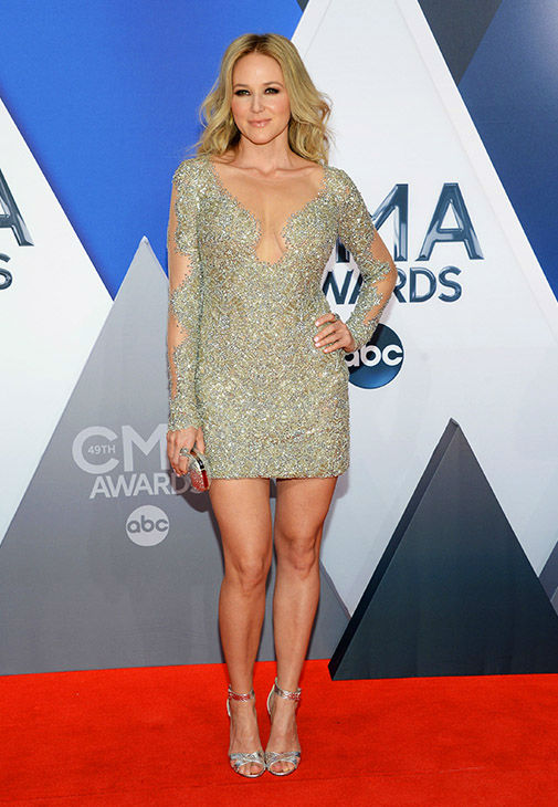 <div class='meta'><div class='origin-logo' data-origin='none'></div><span class='caption-text' data-credit='Evan Agostini/Invision/AP'>Jewel arrives at the 49th annual CMA Awards at the Bridgestone Arena on Wednesday, Nov. 4, 2015, in Nashville, Tenn.</span></div>