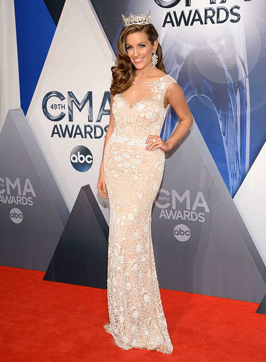 <div class='meta'><div class='origin-logo' data-origin='none'></div><span class='caption-text' data-credit='Evan Agostini/Invision/AP'>Miss America Betty Cantrell arrives at the 49th annual CMA Awards at the Bridgestone Arena on Wednesday, Nov. 4, 2015, in Nashville, Tenn.</span></div>