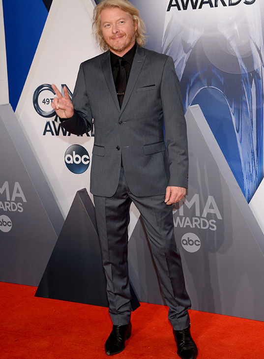 <div class='meta'><div class='origin-logo' data-origin='none'></div><span class='caption-text' data-credit='Evan Agostini/Invision/AP'>38.Phillip Sweet, of Little Big Town, arrives at the 49th annual CMA Awards at the Bridgestone Arena on Wednesday, Nov. 4, 2015, in Nashville, Tenn.</span></div>