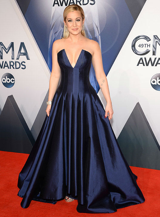 <div class='meta'><div class='origin-logo' data-origin='none'></div><span class='caption-text' data-credit='Evan Agostini/Invision/AP'>Kellie Pickler arrives at the 49th annual CMA Awards at the Bridgestone Arena on Wednesday, Nov. 4, 2015, in Nashville, Tenn.</span></div>