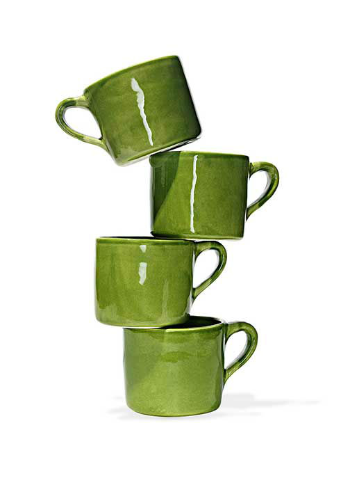 """<div class=""""meta image-caption""""><div class=""""origin-logo origin-image """"><span></span></div><span class=""""caption-text"""">French bistro coffee mug, $120 at CanvasHomeStore.com.  ''This green earthenware cup is large enough to hold just the right amount of tea.'' -Oprah (Photo/Gregor Halenda)</span></div>"""