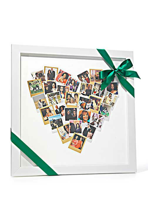 """<div class=""""meta image-caption""""><div class=""""origin-logo origin-image """"><span></span></div><span class=""""caption-text"""">Heart Snapshot Mix Photo Art, $42 at Minted.com.  ''You can upload 30 photos, then have them printed in a heart-shaped collage and framed.'' -Oprah (Photo/Gregor Halenda)</span></div>"""