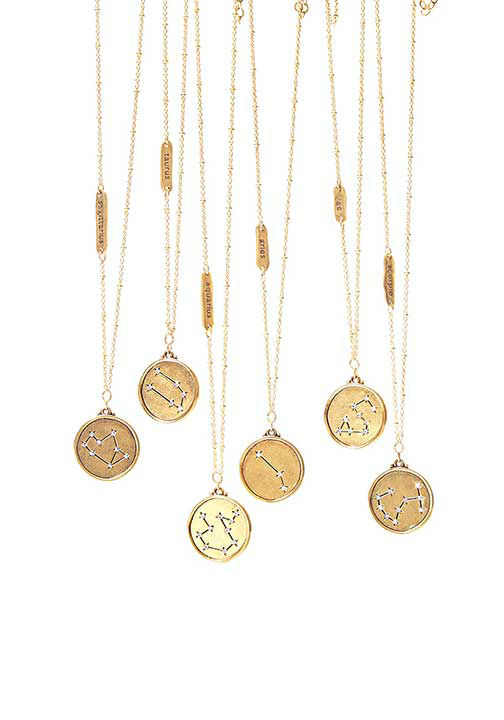 """<div class=""""meta image-caption""""><div class=""""origin-logo origin-image """"><span></span></div><span class=""""caption-text"""">Astrological Star Map Necklaces, $48 at Sequin-NYC.com.  ''These 22-kt-gold-plated necklaces...make a great, glittery gift even when Mercury is in retrograde.'' -Oprah (Photo/Gregor Halenda)</span></div>"""