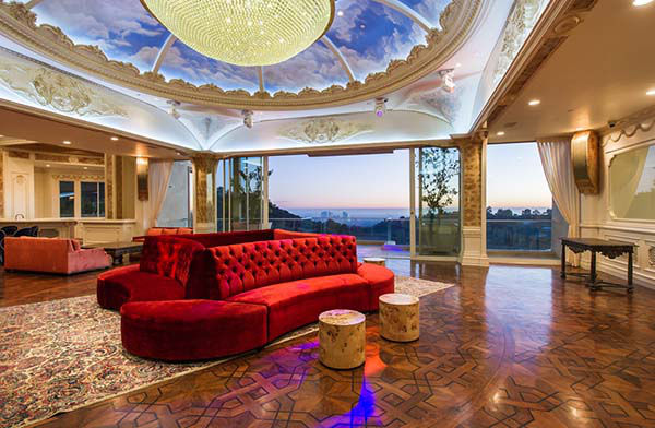 """<div class=""""meta image-caption""""><div class=""""origin-logo origin-image """"><span></span></div><span class=""""caption-text"""">The $195 million Palazzo di Amore in Beverly Hills includes a 50-seat private screening room and a 3,000 bottle wine cellar and tasting room. (Marc Anegles)</span></div>"""