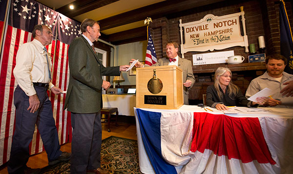 "<div class=""meta image-caption""><div class=""origin-logo origin-image none""><span>none</span></div><span class=""caption-text"">Voters in Dixville Notch, Va., cast their ballots just after midnight Tuesday, Nov. 8, 2016, in Dixville Notch, N.H. (Jim Cole/AP Photo)</span></div>"